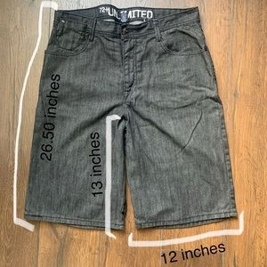Mens baggy jean shorts